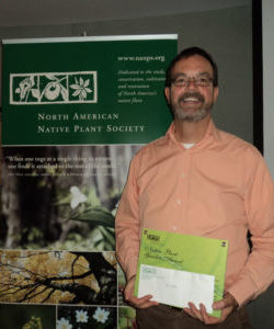 Paul Foster with his NANPS Garden Award (Honourable Mention)